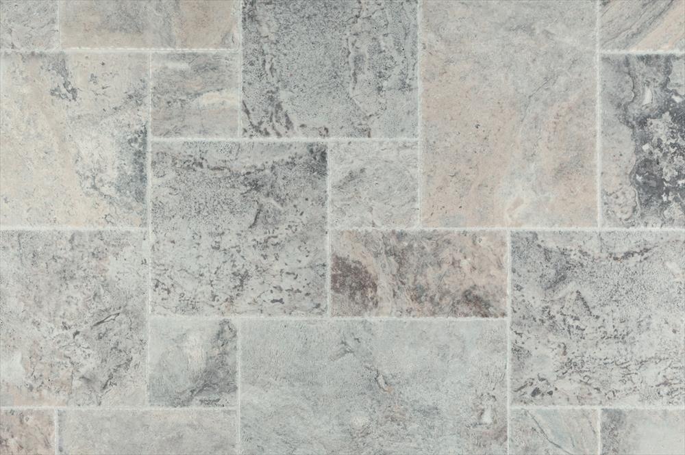 BuildDirect – Travertine Tile - Antique Pattern Sets – Silver Premium - Multi View