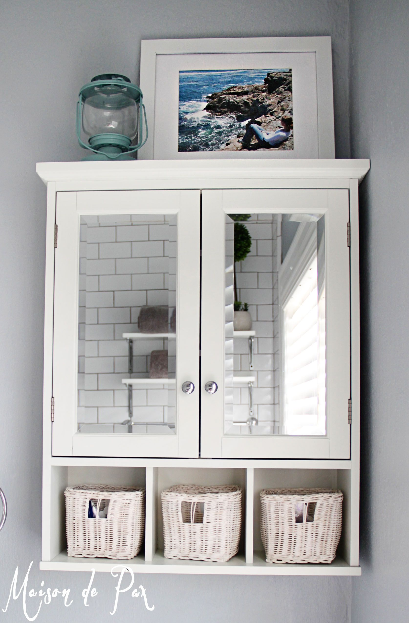 10 Tips For Designing A Small Bathroom   Maison De Pax. White Medicine  CabinetBathroom ...