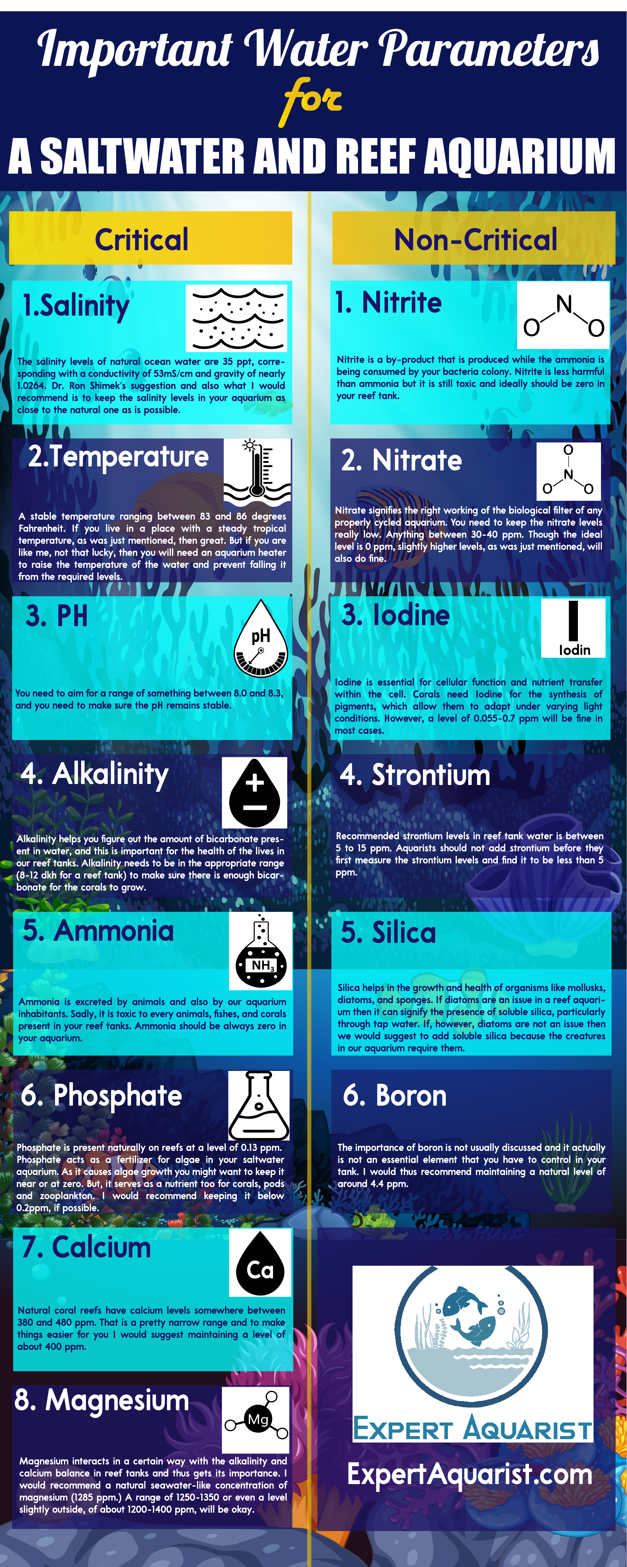 Most Important Water Parameters For A Saltwater Reef Tank In 2020 Reef Tank Aquascaping Reef Tank Reef Aquarium