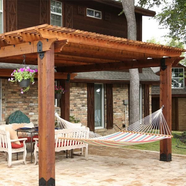 This Image Features A Patio Pergola Constructed Using The Post Base Kit,  Post To Beam