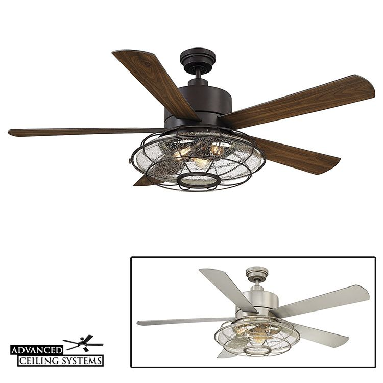 7 Rustic Industrial Ceiling Fans With Cage Lights You Ll Love