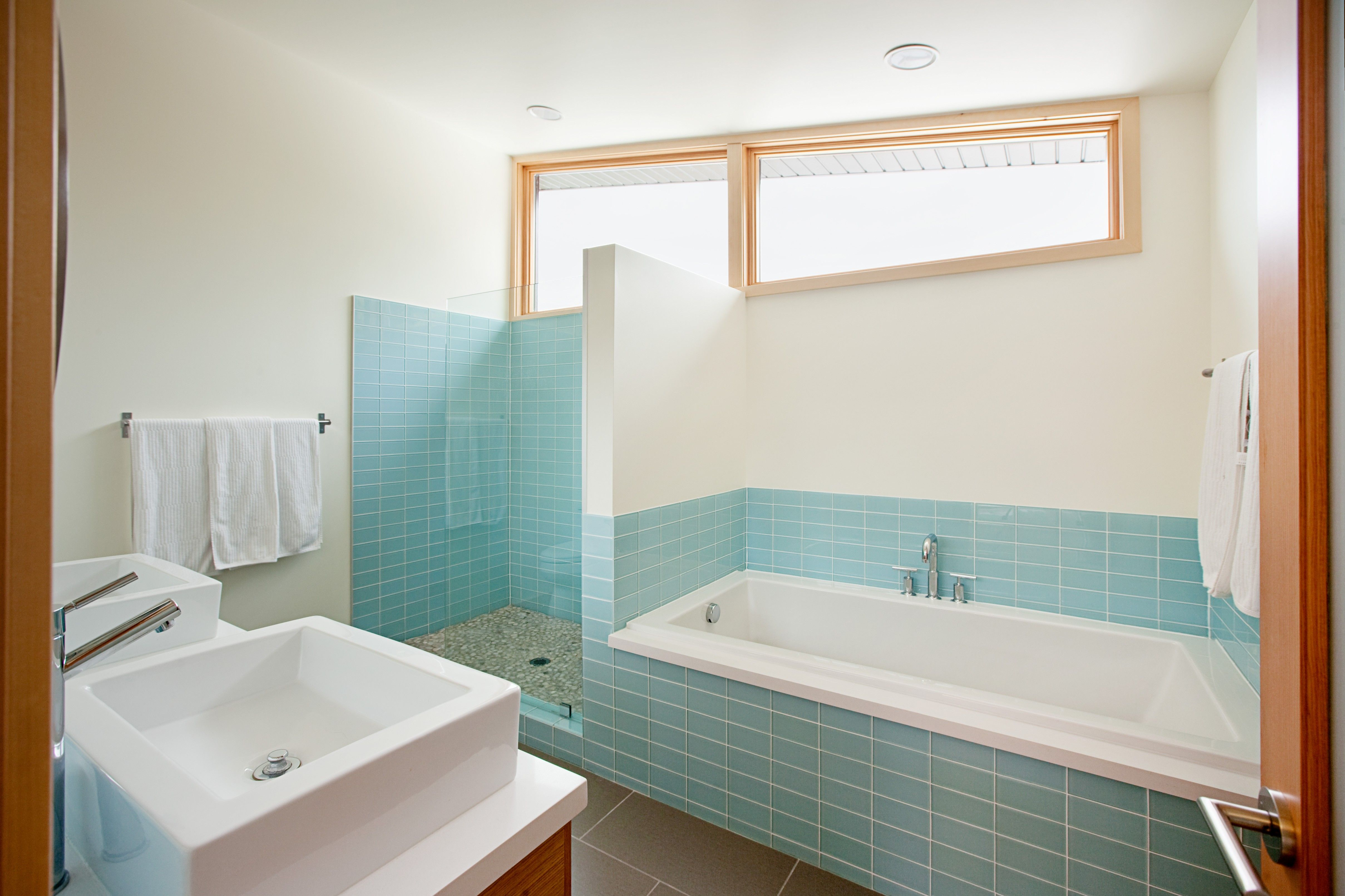 small bathroom with shower and bath - Google Search | 1930s Interior ...
