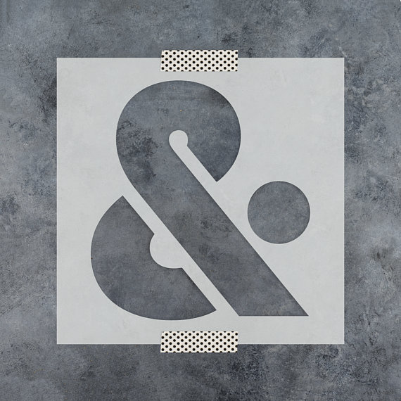 Ampersand Sans Stencil - Reusable DIY Craft Stencils of a