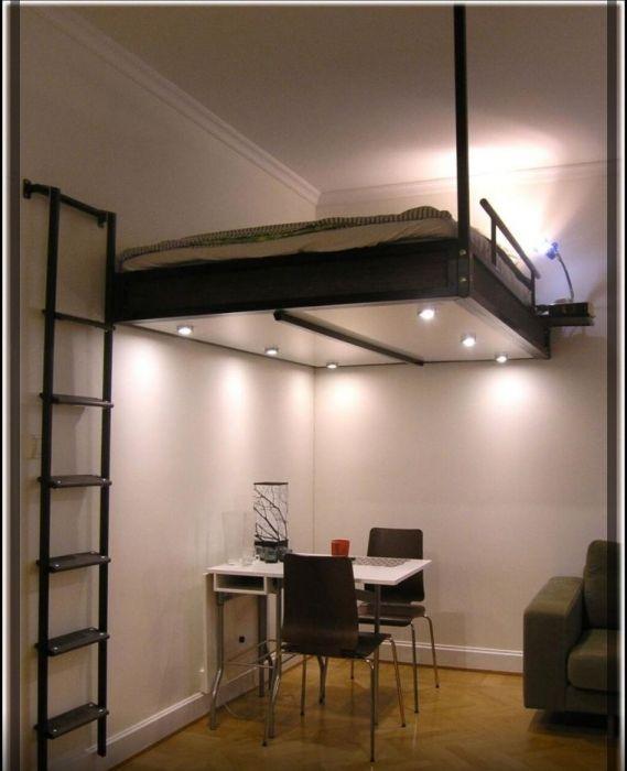 Disenos De Camas Tipo Loft Para Adultos Maximiza Tu Espacio Interior Junto A Mundo Fachadas Minimalist Bedroom Decor Beds For Small Rooms Small Room Design