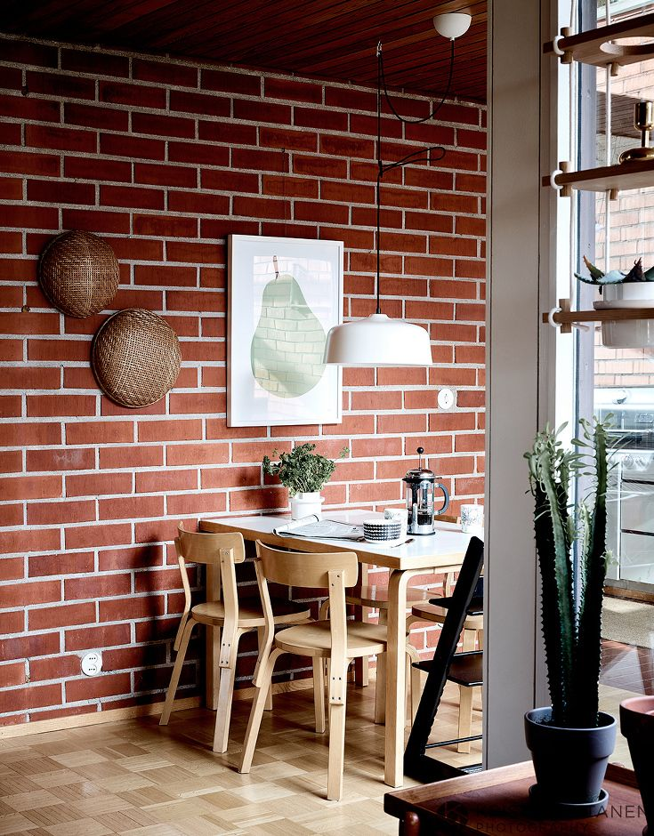 Finnish House With The Red Brick Walls