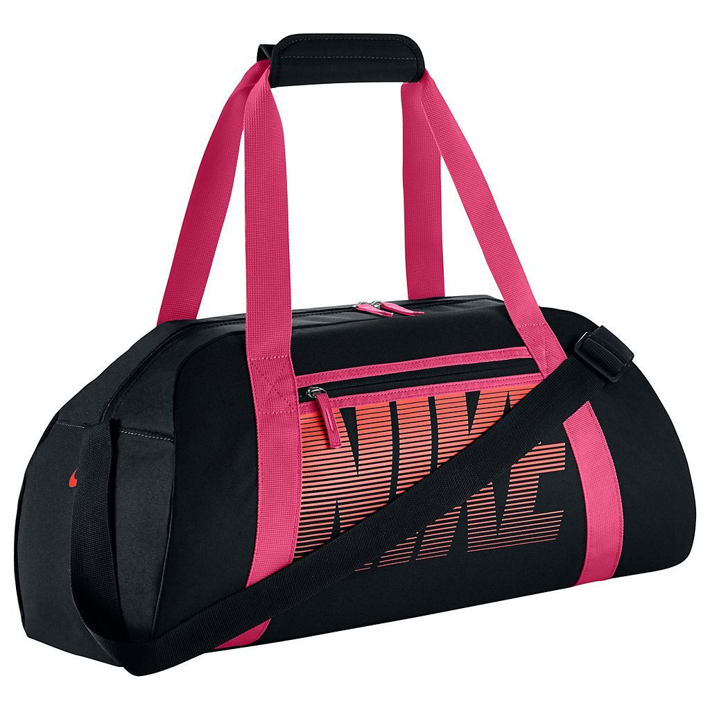 The Nike™ Women's Gym Club Training Duffel Bag is made of water-resistant  nylon and features dual handles and a detachable shoulder strap.