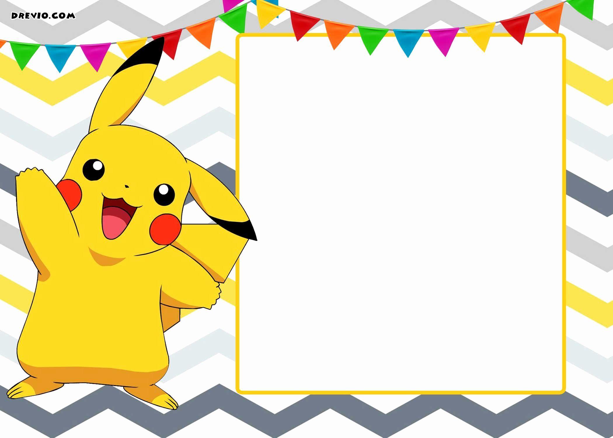 35 Free Birthday Party Invitation Template Pokemon Party