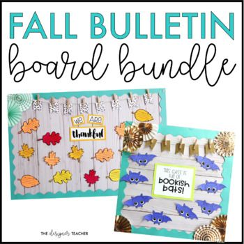 Fall Bulletin Board Bundle and Door Decor