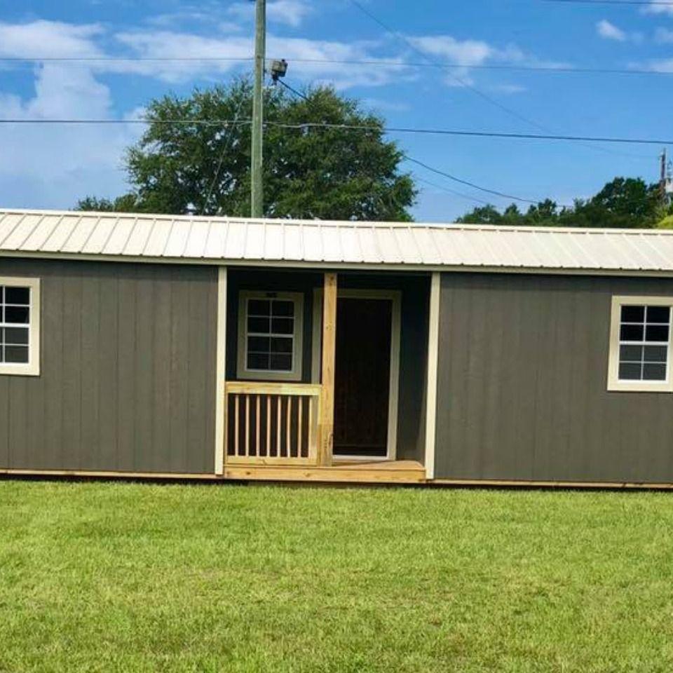 Center Cabin | Portable buildings, Building a house, Cabin