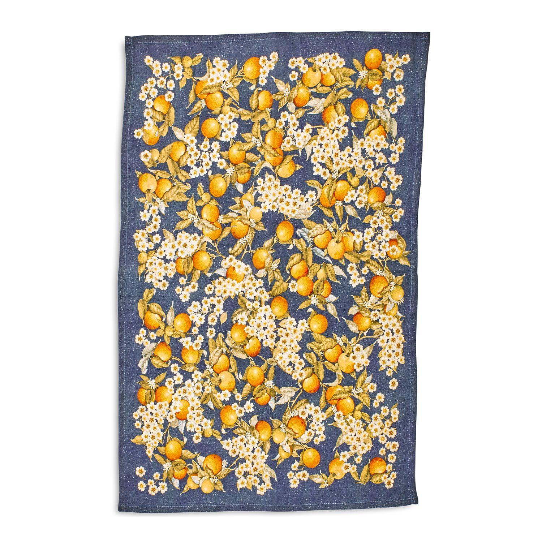 Orange Blossoms Linen Kitchen Towel 28 X 20 Sur La Table In 2020 Linen Kitchen Towels Sur La Table Kitchen Towels