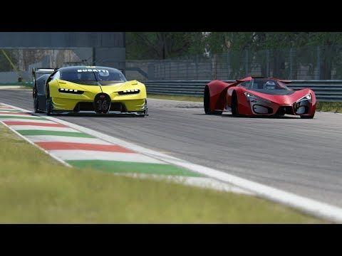 Ferrari F80 Concept vs Bugatti Vision GT at Monza Circuit