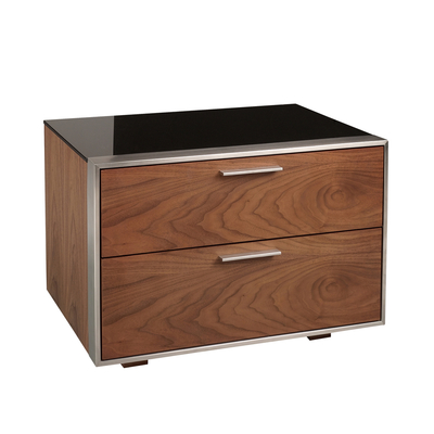 Hixon Bedside Table With Images Walnut Bedside Table Steel