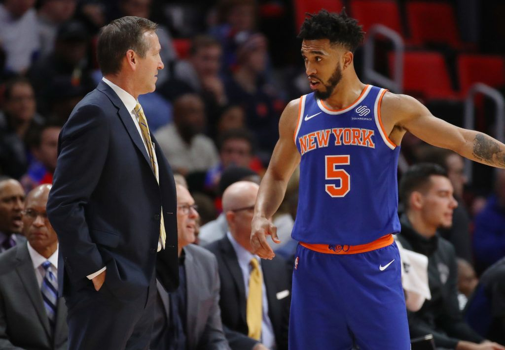 Knicks Take To The Road For Key Stretch Msgnetworks Com Knicks Jeff Hornacek Team S