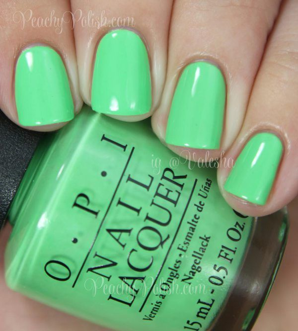 OPI You Are So Outta Lime! | Summer 2014 Neon Collection | Peachy ...