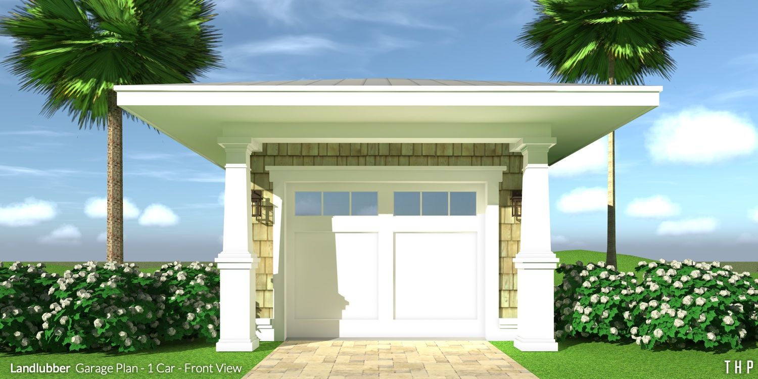 1 Car Garage With Columns Tyree House Plans Garage Door Design House With Porch Garage Plans