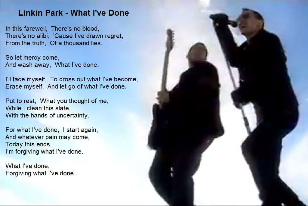 Linkin Park What Ive Done Lyric Video Cute766