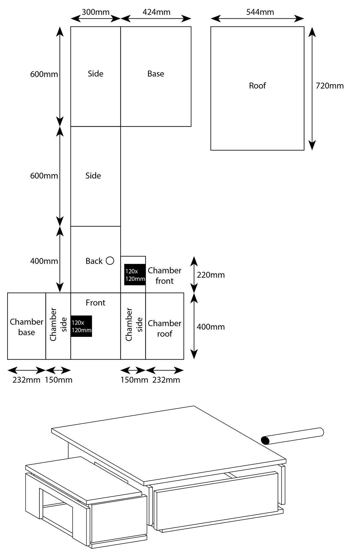 Image result for diy hedgehog house dimensions Diy
