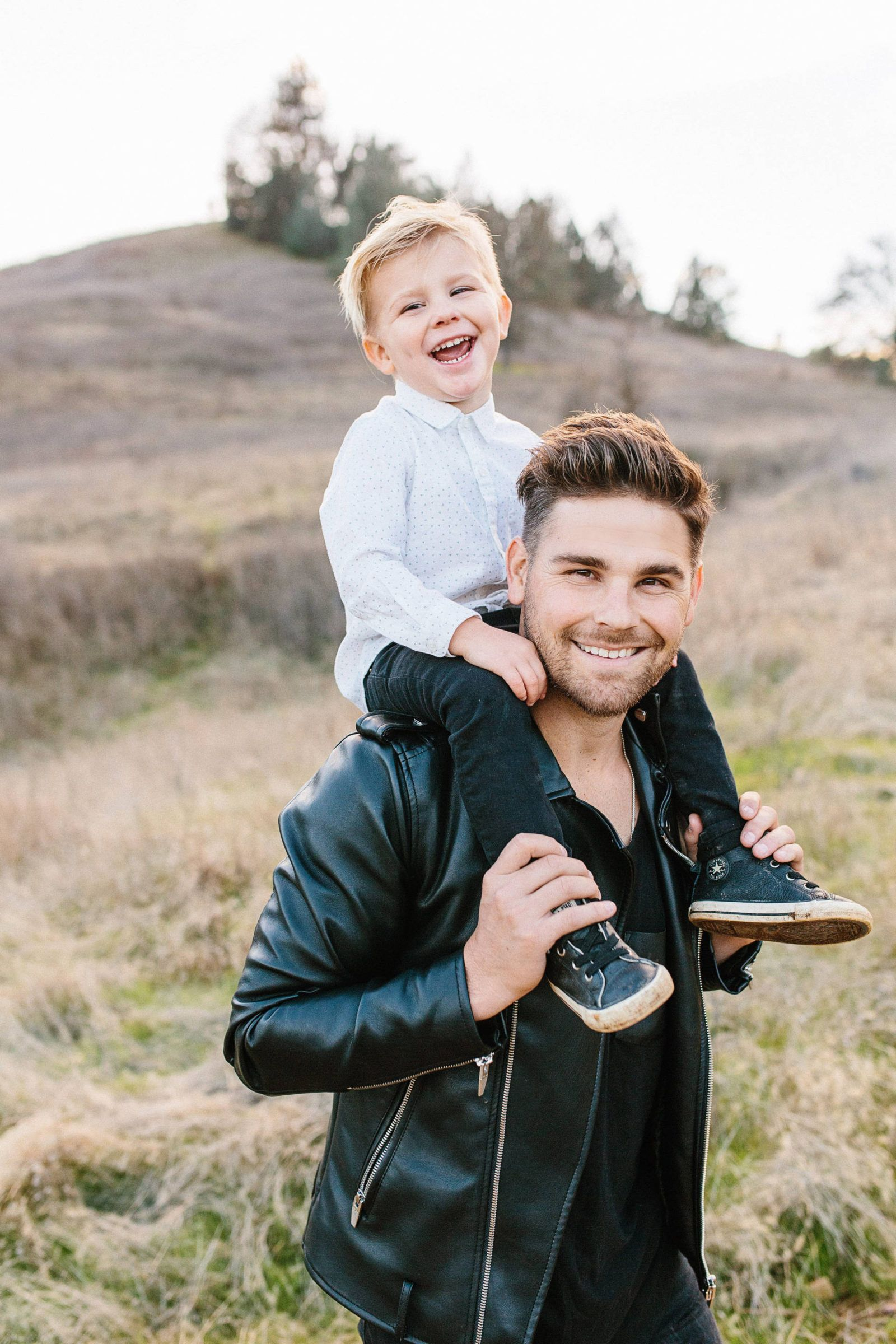 Father son christmas family card pictures photo shoot www ellabrooksblog com