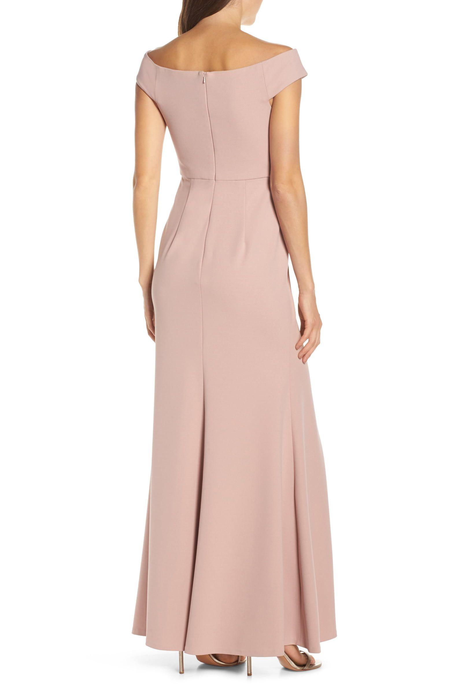 b6a14b0f48 Jenny Yoo Larson Off the Shoulder Crepe Evening Dress