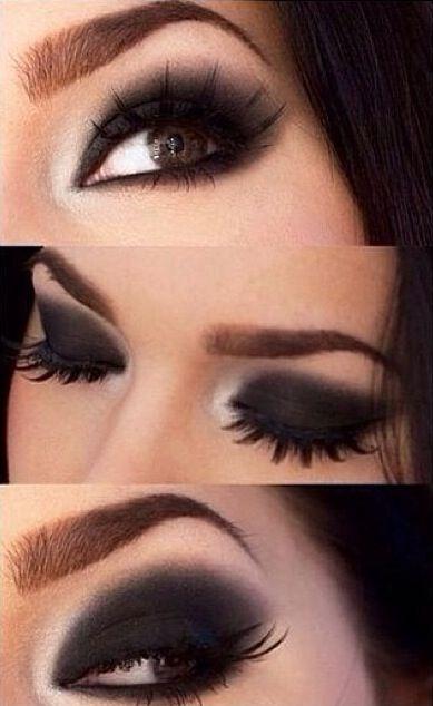 Sombra preta e violeta Luxo! | Maquiagem, Sombra preta