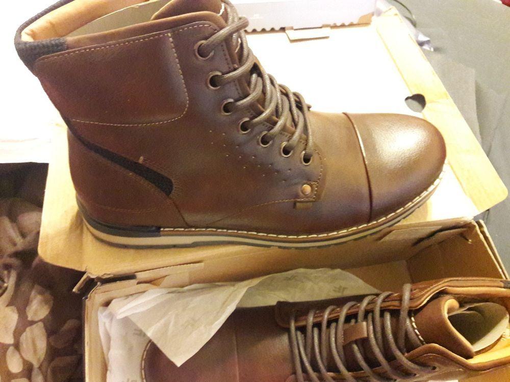 2c90d0bc2fb0 JF J Ferrar Men s Size 8.5M Tookers Brown Faux Leather Fashion Boots   fashion  clothing  shoes  accessories  mensshoes  boots (ebay link)