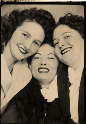 ** Vintage Photo Booth Picture **   Three wonderful friends