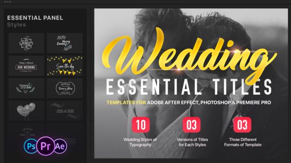 Essential Wedding Titles Mogrt For Premiere Wedding Titles Wedding Essentials Wedding