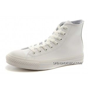 e37d23304ba1e2 All White All Star Leather Converse Monochrome High Tops Chuck Taylor  Sneakers Best