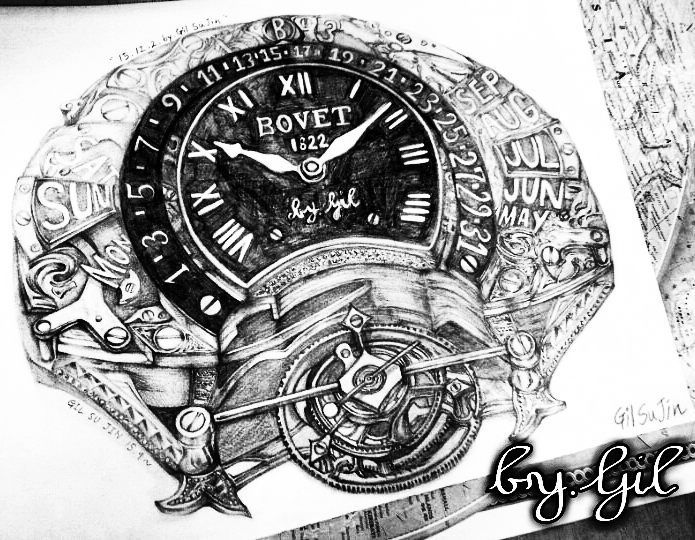 Gil bovet drawing pencil pencilsketch sketch doodle art artwork watch tourbillonluxury hublot iwc rolex patekphilippe alangesohne