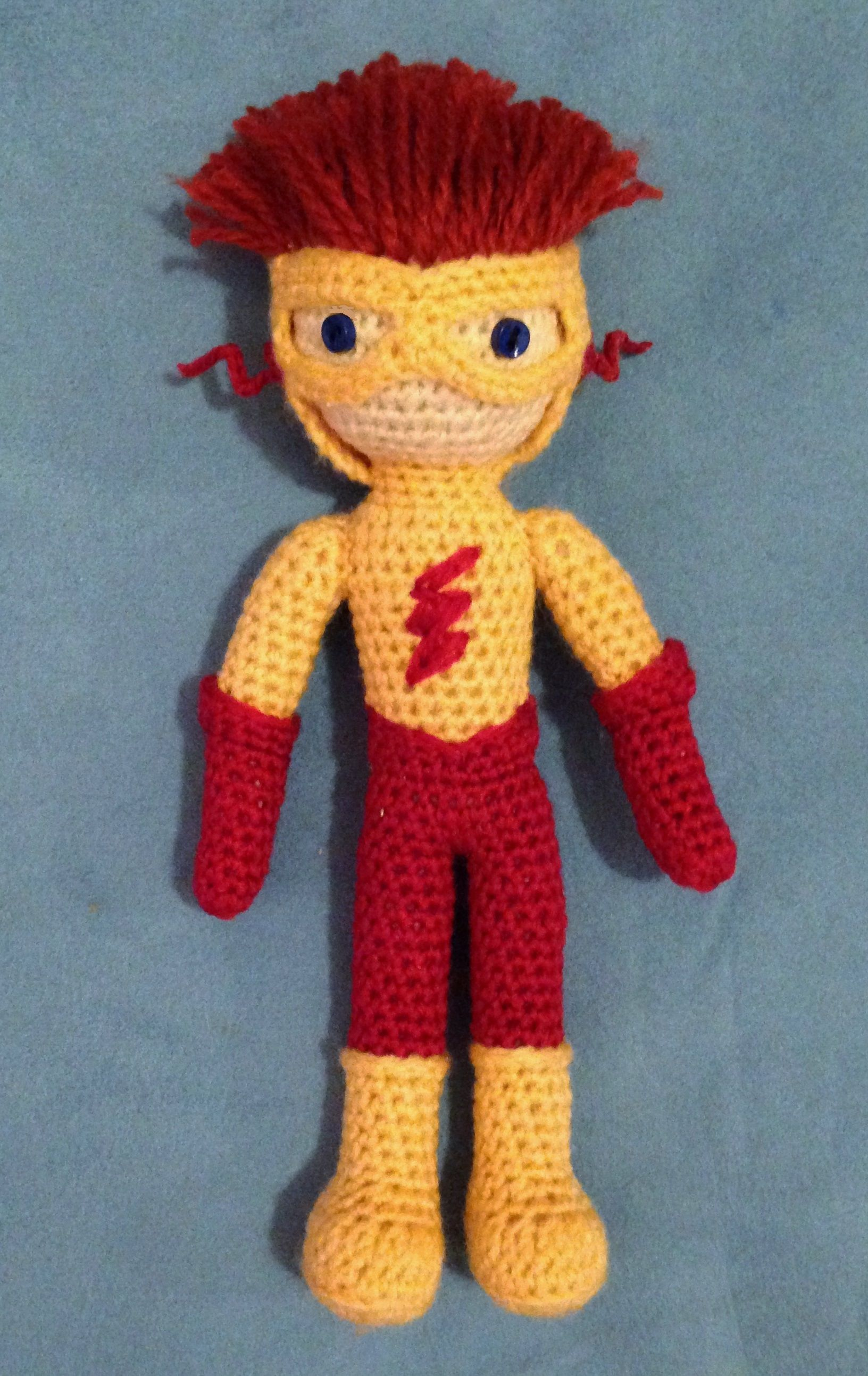 Teen Titans amigurumi - Kid Flash   My Amigurumi   Pinterest