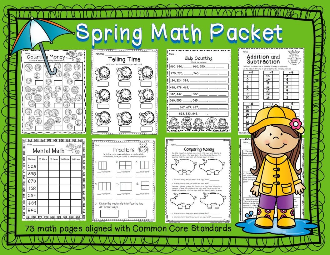 Spring Math Printables | Math word problems, Mental maths and Math words