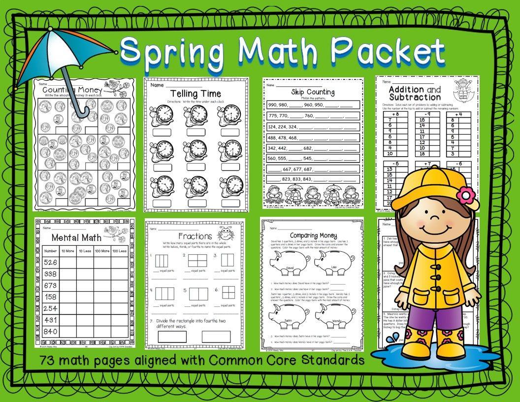 Spring Math Printables