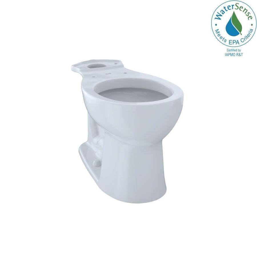 Toto Entrada Cotton White Round Chair Height Toilet Bowl C243ef 01 In 2020 Round Chair Toilet