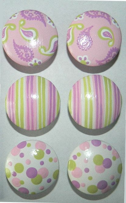 These can be painted in any color scheme - custom hand painted drawer knobs.  Tons of designs in this shop