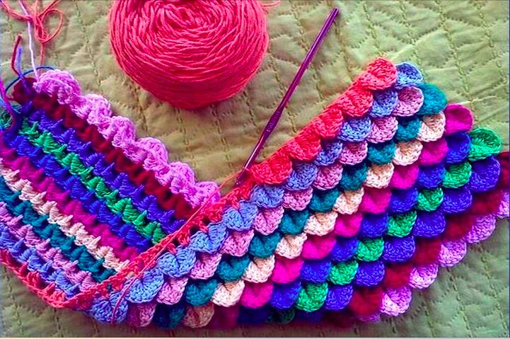 How to crocodile stitch crochet Free Pattern.   Crochet project ...