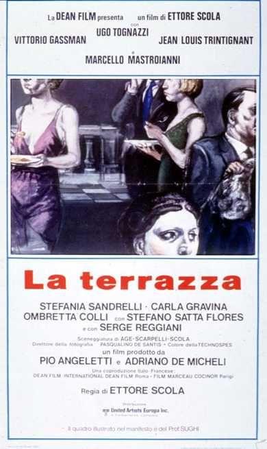 La terrazza con Vittorio Gassman, Ugo Tognazzi, Jean Louis ...