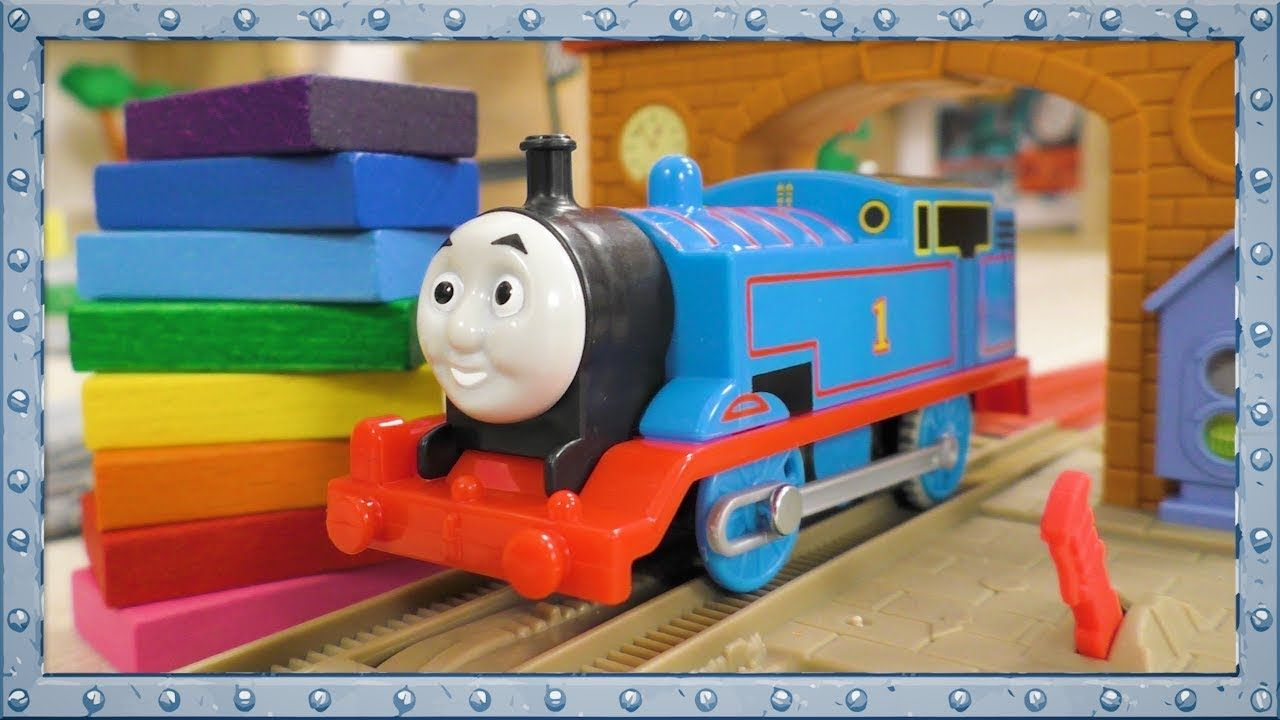 Colors Learning With Thomas The Tank Engine Accidents With Wooden Toys Thomas The Tank Engine Thomas And Friends Thomas The Tank
