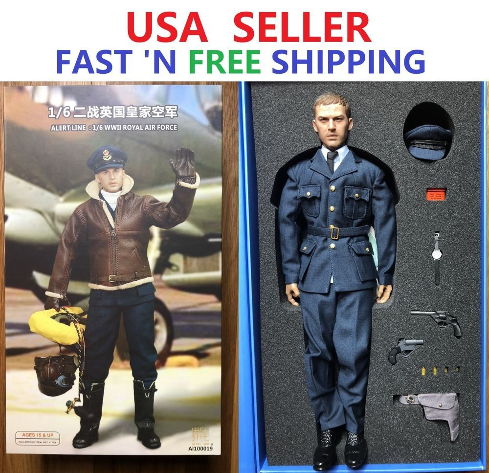 Alert Line Al100019 1 6 Scale Wwii Royal Air Force Pilot Action
