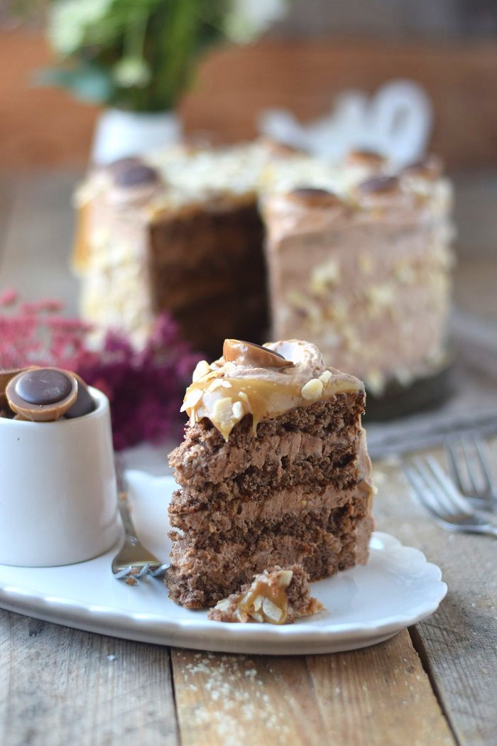 Karamell Nougat Haselnuss Toffifee Torte Caramel Hazelnut