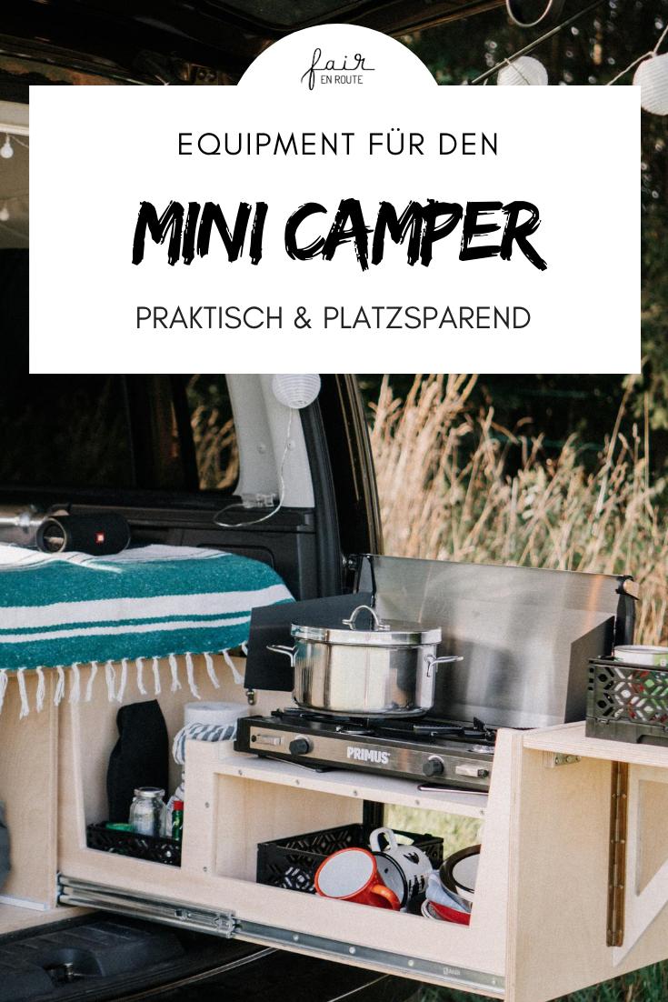 Vinz the Van - unser Camping Equipment für das Vanlife im Minicamper -