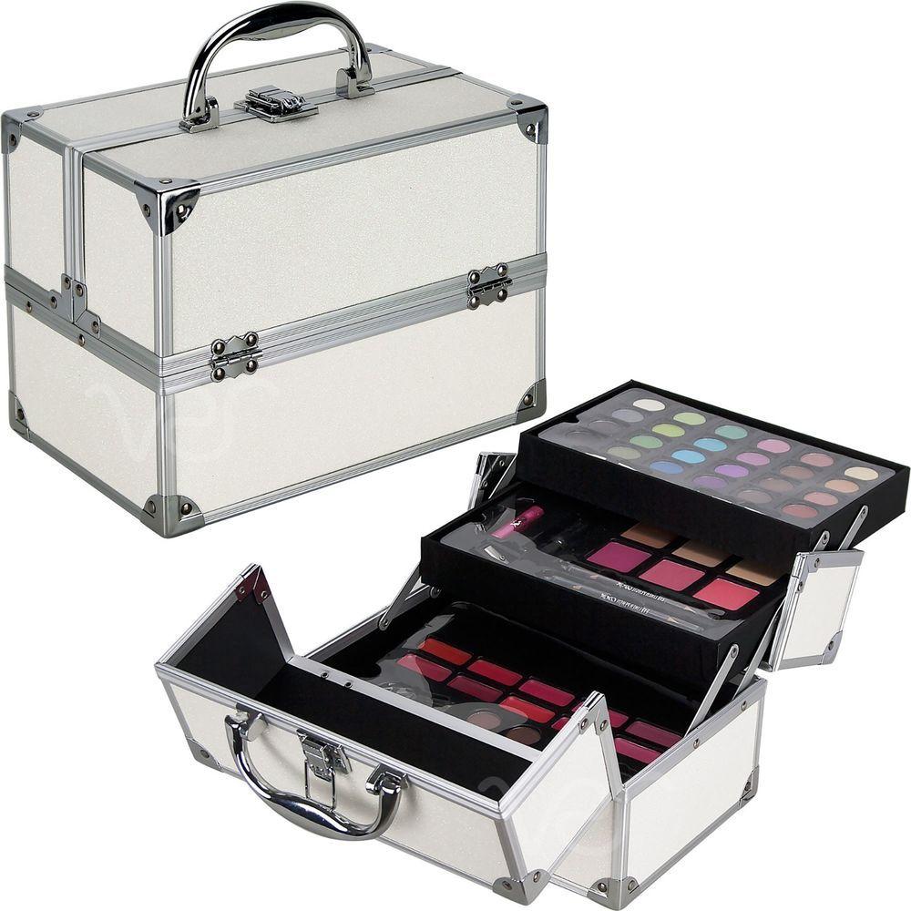 Teens Girls Starter Makeup Cosmetic Kit White Storage Case