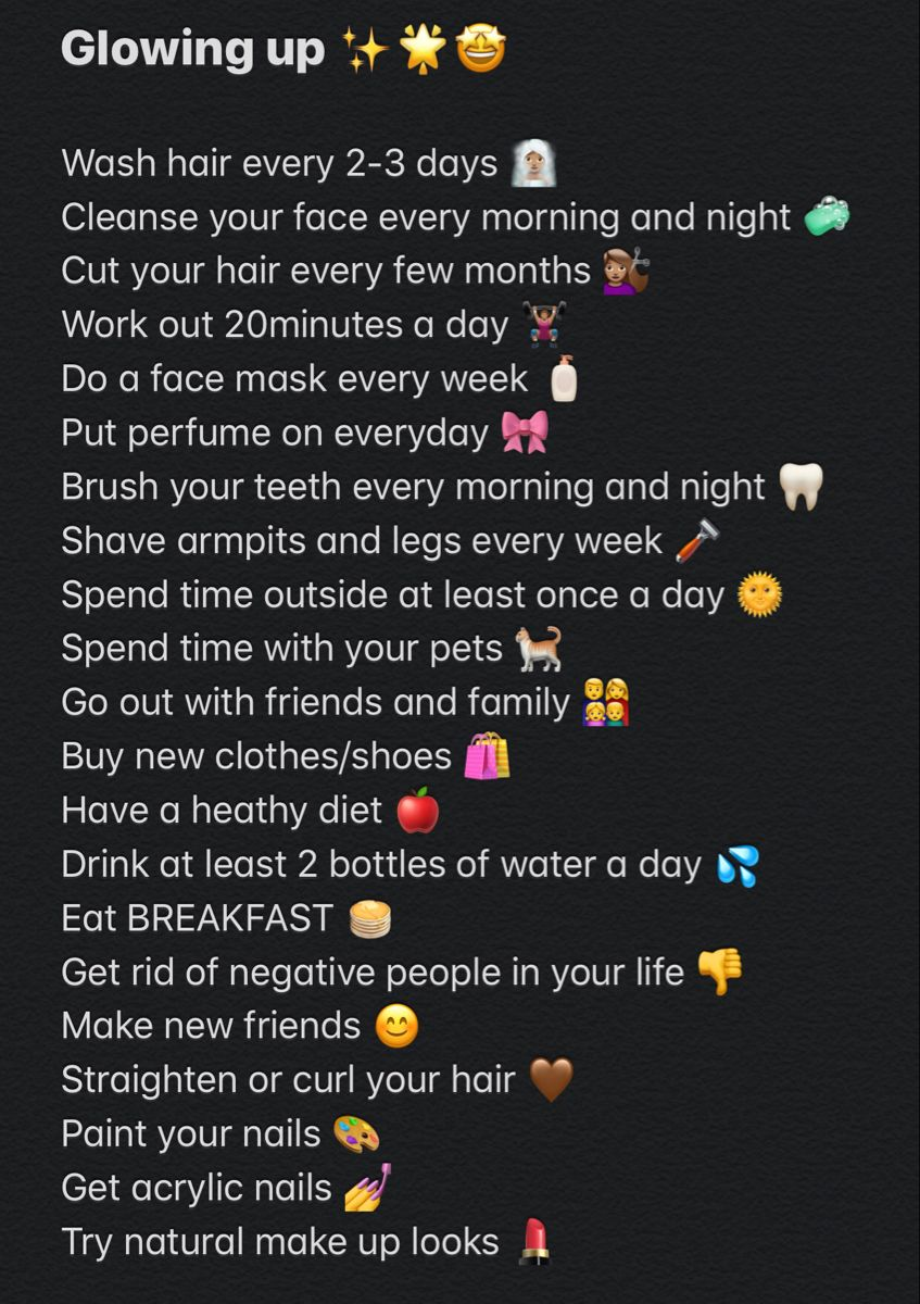 Glowing up list in 2020 glow up tips beauty routine