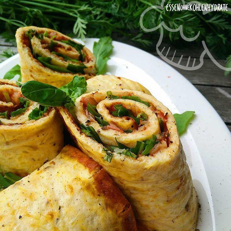 low carb pizzarolle rezept low carb rezepte repas manger sainement und cr pes. Black Bedroom Furniture Sets. Home Design Ideas