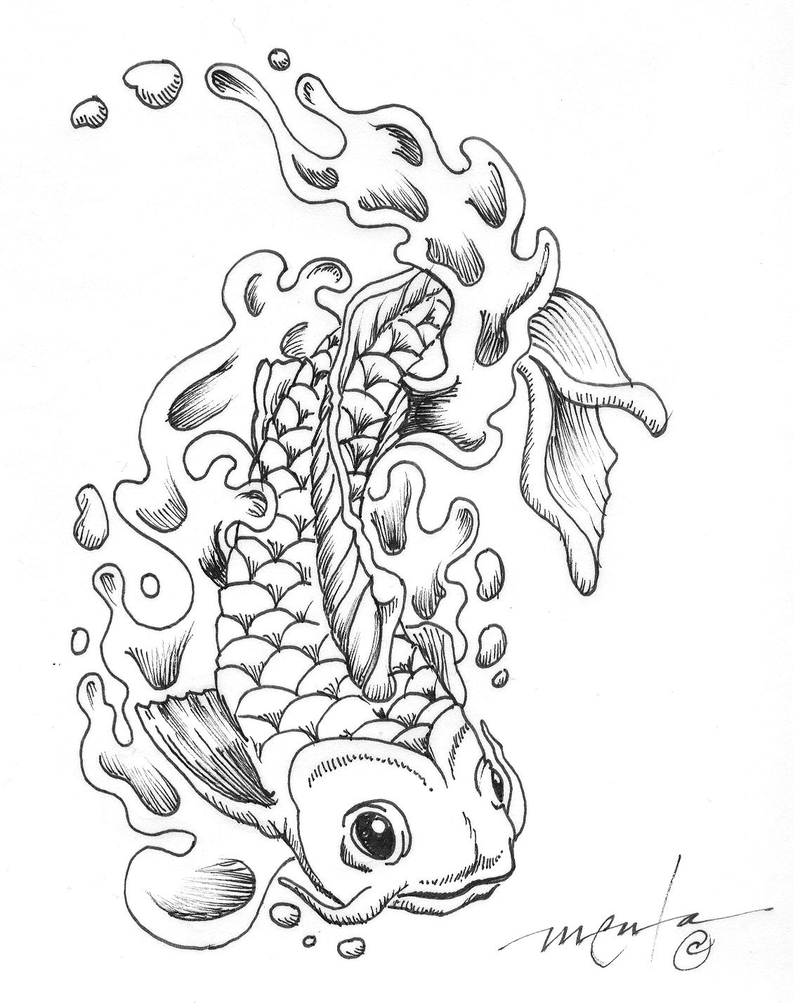 Japanese Koi Coloring Pages Download And Print For Free Dragon