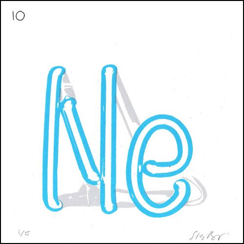 Neon by Stacy Rodriguez Symbol Ne Atomic number 10 Atomic weight - new periodic table symbol definition