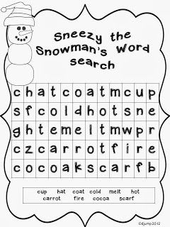 The Littles LOVE word searches. So here's a Freebie for