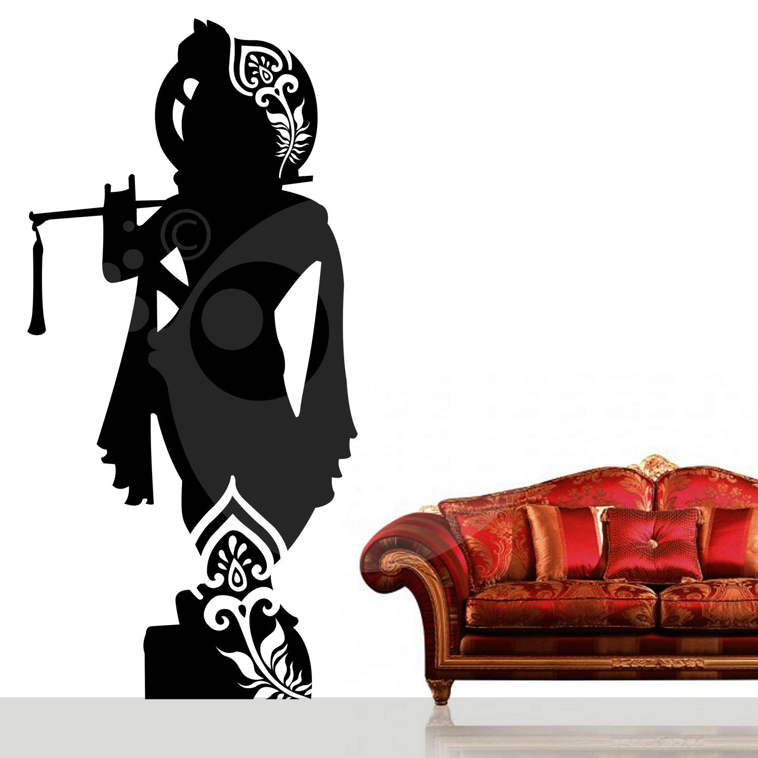 31a1f6bc23 With this Lord Krishna Wall Sticker Decal you can decorate your walls in  one of the most modern and elegant ways