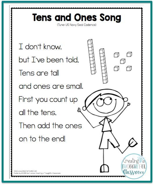 Teaching Place Value, Tens And Ones Song