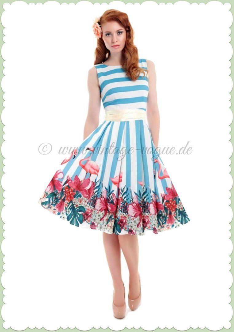 Collectif 50er Jahre Rockabilly Petticoat Flamingo Kleid - Vanessa ...