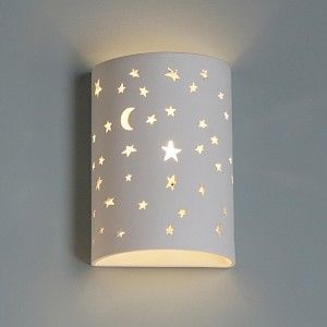 7 Starry Night Cylinder Sconce Childrens Wall Lights Wall